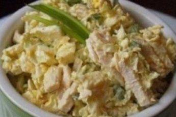 Самый лучший рецепт из всех! Легкий салат из пекинской капусты с курицей