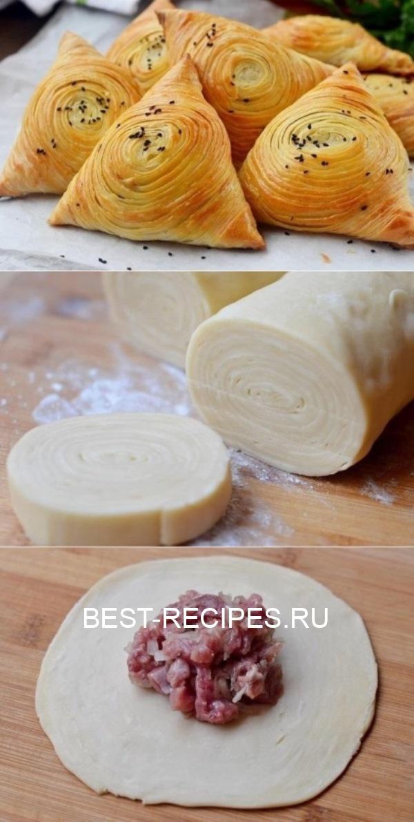 Вкусно, как у бабушки: Самса узбекская слоеная!