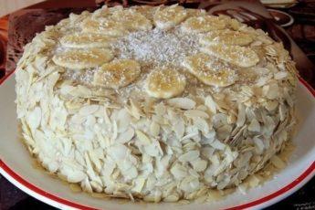 Торт Банановый: такого шедеврального торта гости еще не пробовали