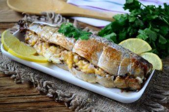 Рецепт изумительной рыбки с интересной начинкой
