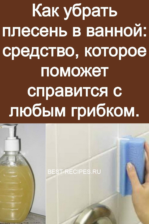 Как убрать плесень в ванной: средство, которое поможет справится с любым грибком 3