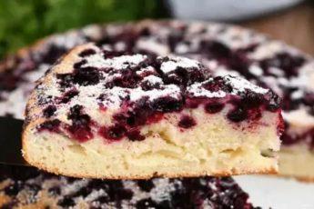 Рецепт изумительного пирога с ягодами на самом лучшем жидком тесте. Отлично пропекается 1